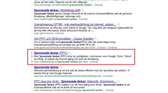 bild på sökresultat i Google