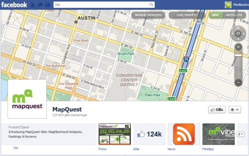 mapquest facebook