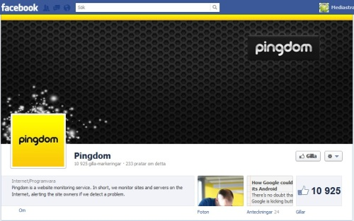 pingdom facebook