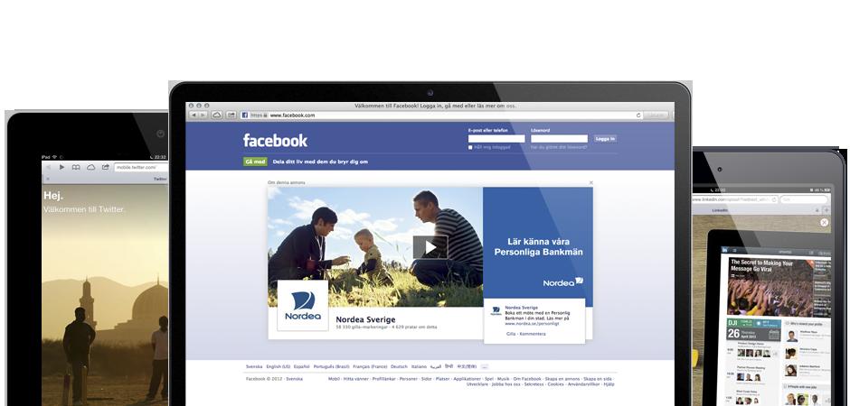 Vi hjälper dig med Sociala medier