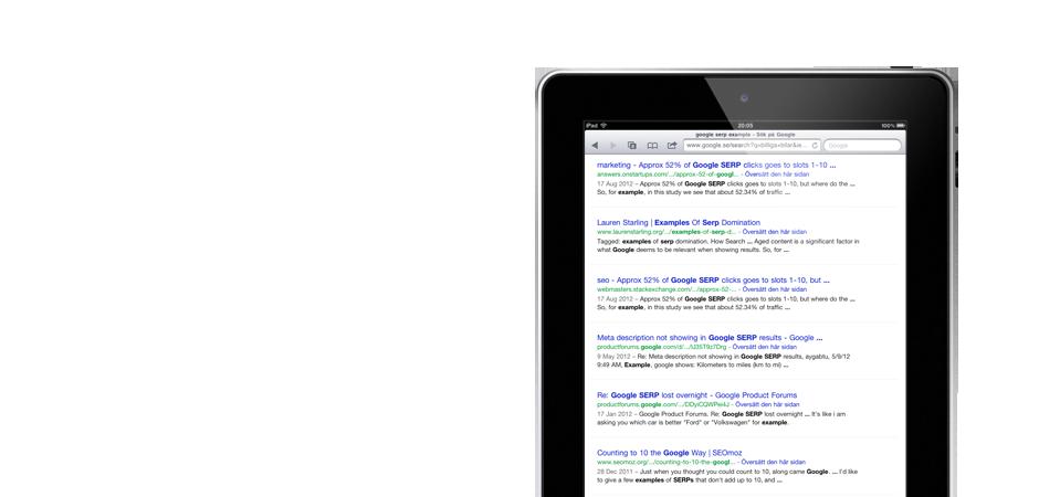 Vi hjälper dig med sökmotoroptimering