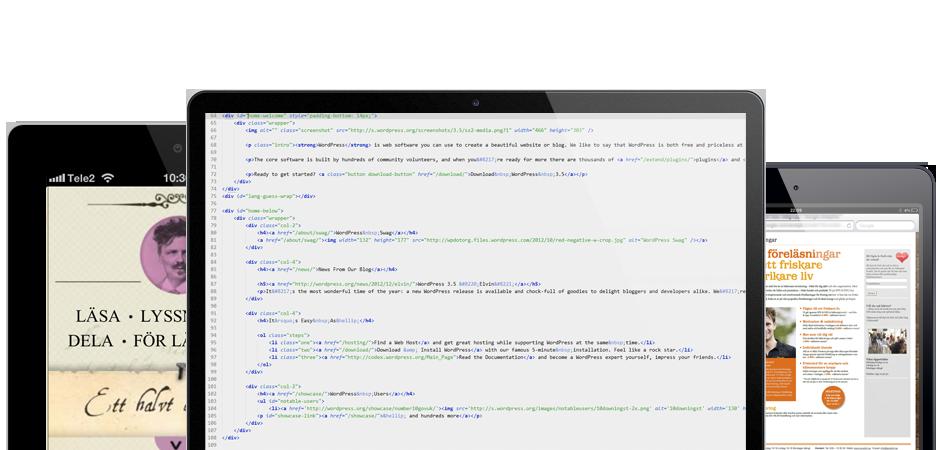 Vi hjälper dig med webbutveckling