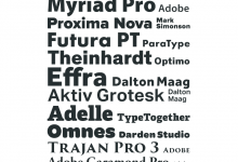 Most Popular Web Fonts of 2012