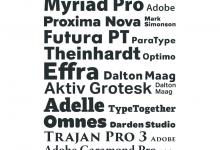 Most Popular Web Fonts of 2012
